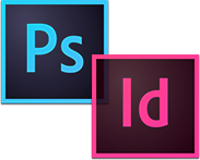 Adobe InDesign & Photoshop Combo Logo