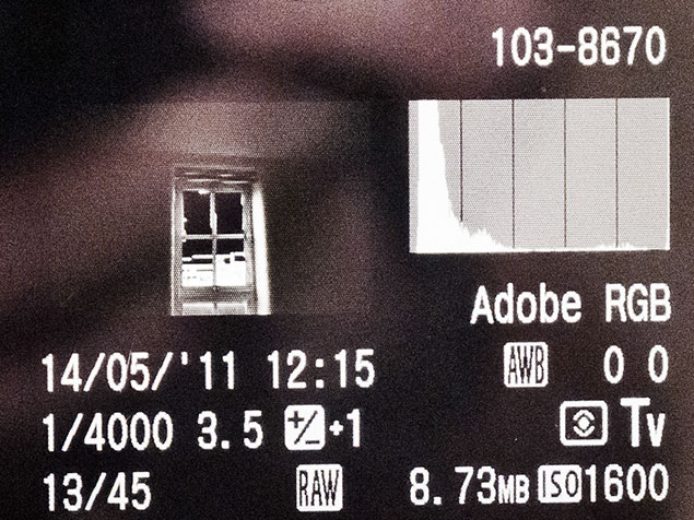 an example of a histogram on your DSLR camera