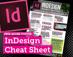 Free Adobe InDesign Cheatsheet at Bringyourownlaptop.com